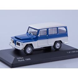 Willys Rural, blue/white 1968